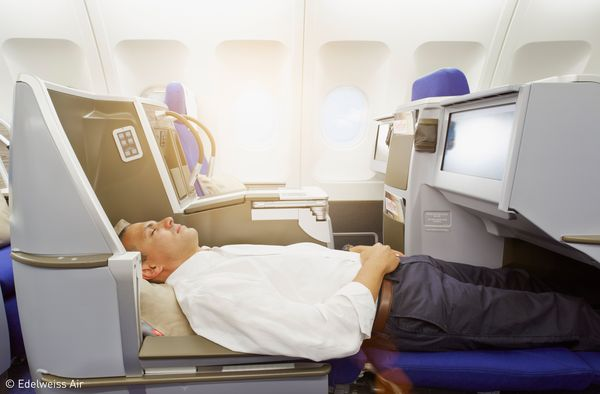 The ultimate in well-being for passengers on Edelweiss's A340s